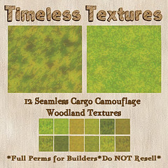 TT 12 Seamless Cargo Camouflage Woodland Timeless Textures