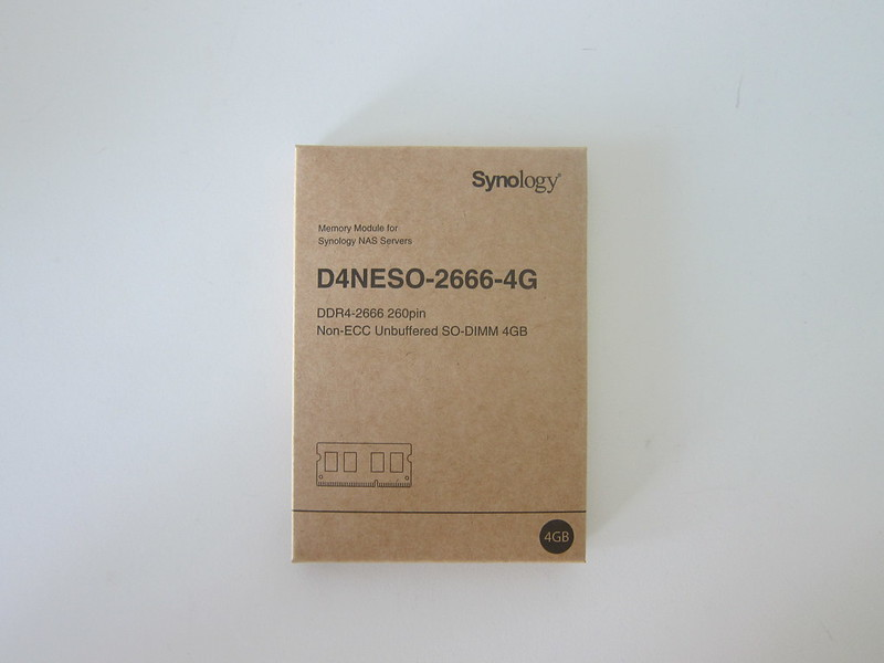 Synology RAM D4NESO-2666-4G - Box Front