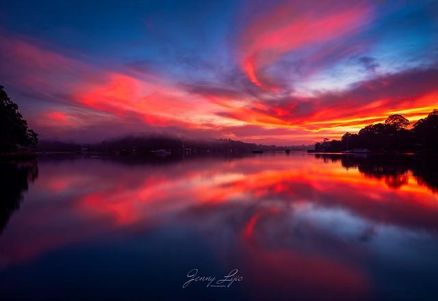 Red dawn.