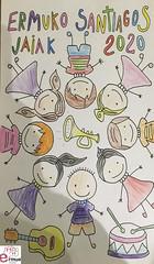 Obra ganadora del primer concurso infantil de carteles de Santiagos