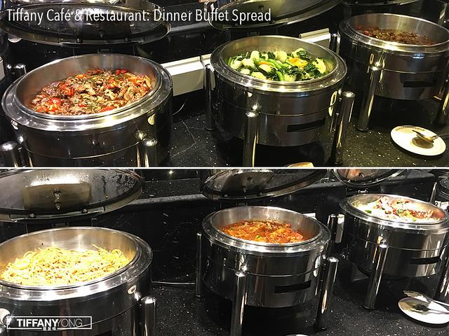 Tiffany Cafe Dinner Buffet Spread