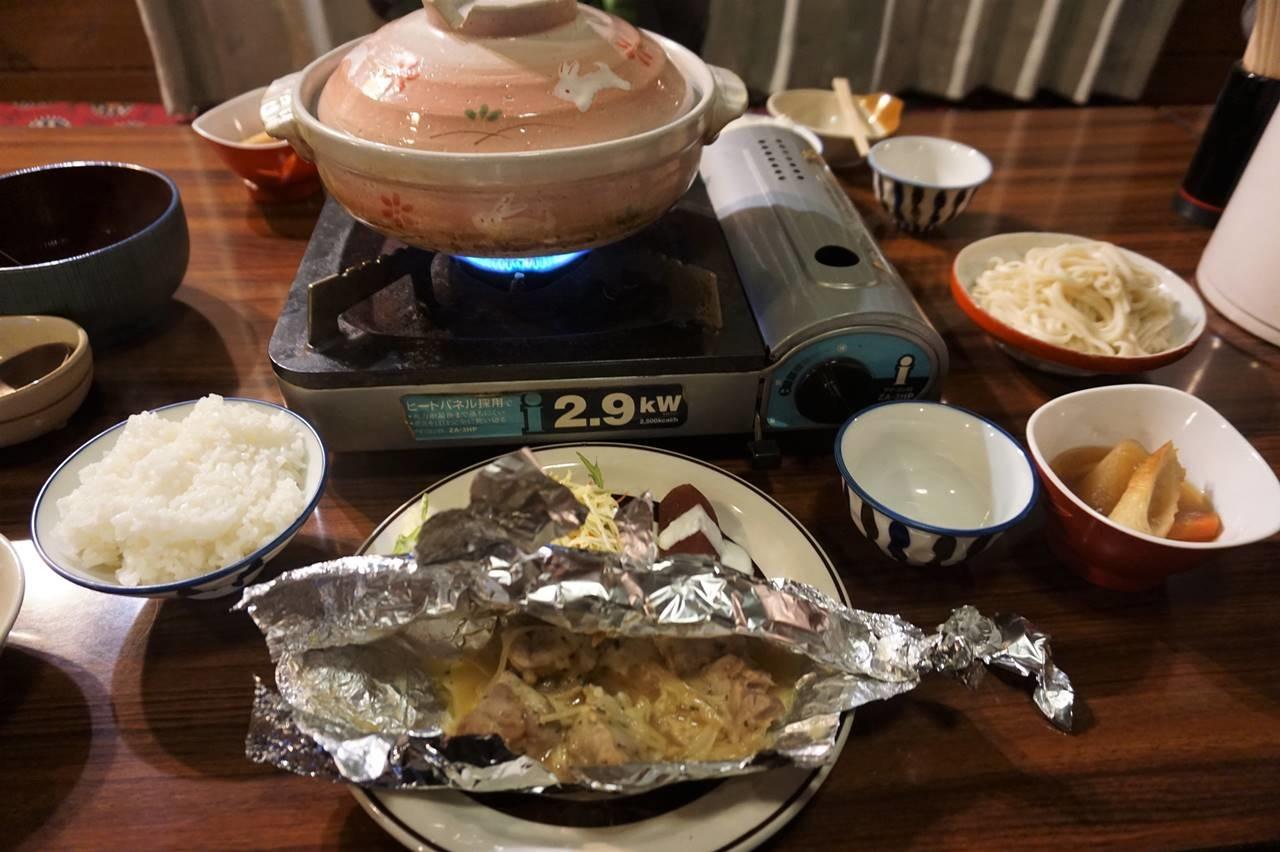 位ヶ原山荘の夕食