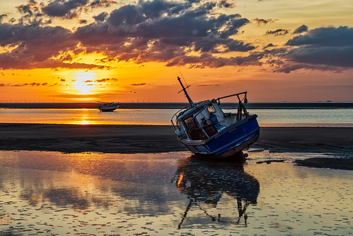 wirral england unitedkingdom meols sunset landscape seascape
