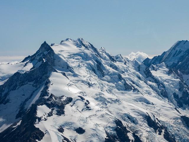 Glaciers autour du Mont Cook