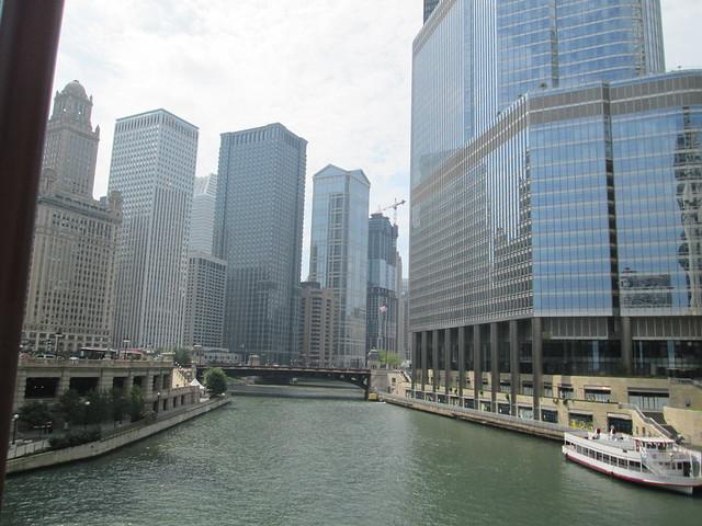 River from Michigan Ave. Bridge