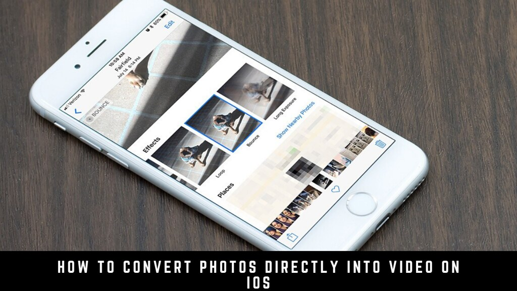 How to convert photos directly into video on iOS