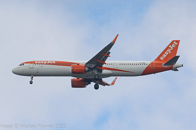 G-UZMB - 2018 build Airbus A321-251NX, on approach to Runway 23R at Manchester
