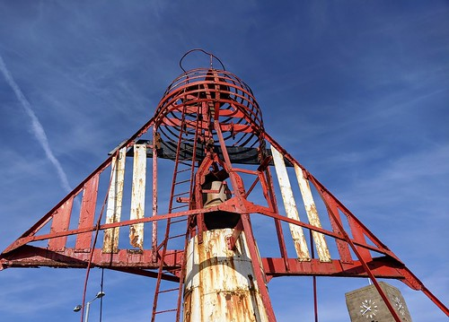 Part of the rusting Nelson Bell-Boat Buoy at Preston Docks | by Tony Worrall