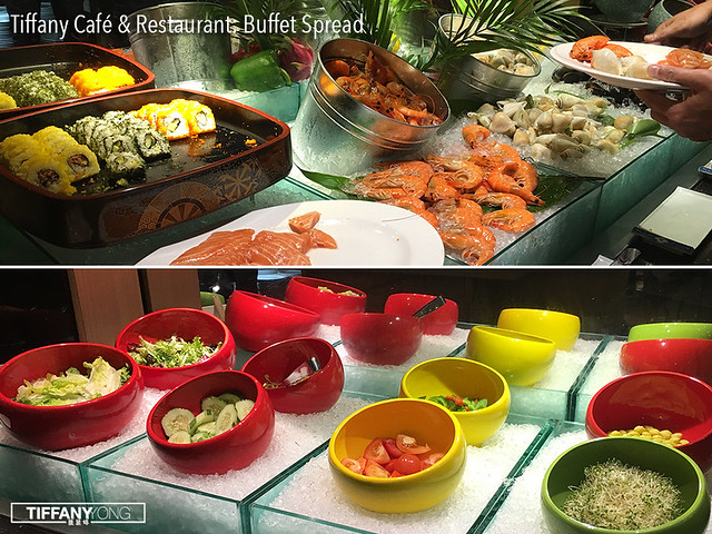 Tiffany Cafe and Restaurant Buffet Spread