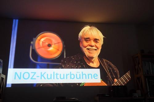 Auftritt von Günter Gall auf der NOZ-Kulturbühne (Aufzeichnung über unseren Beamer geschaut)