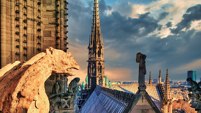 Memories of the roof of Notre Dame de Paris