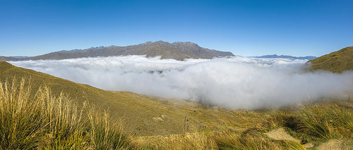 Top of the Crown Range Pass, South Island, New Zealand