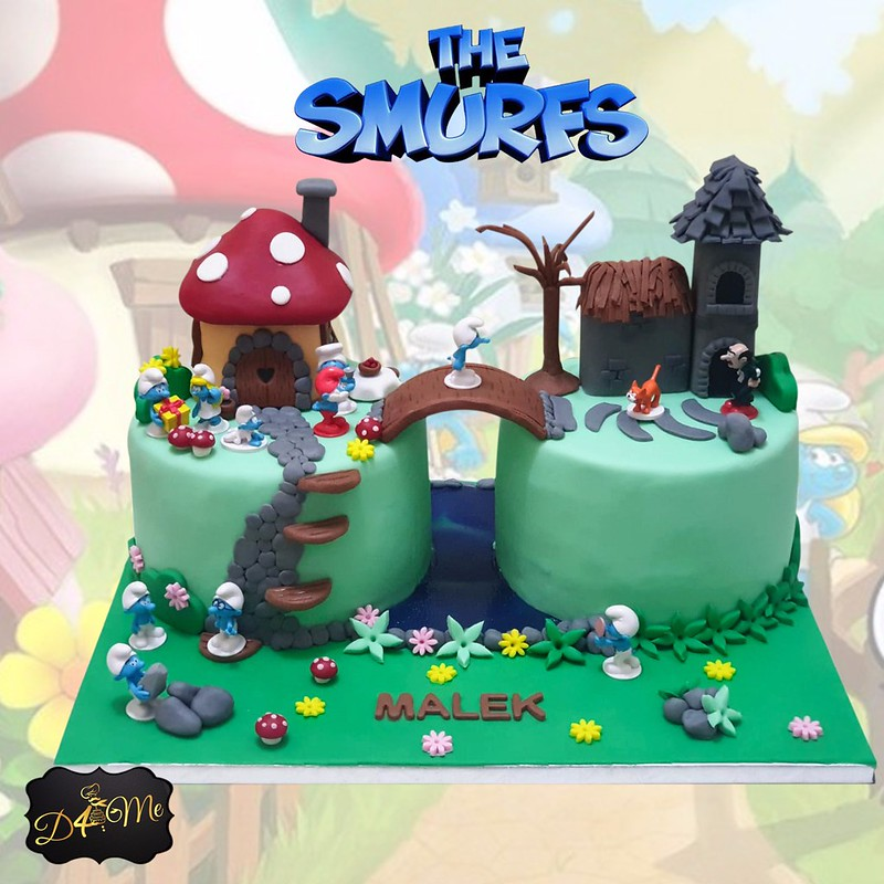 Smurfs' Village by D4Me Cake