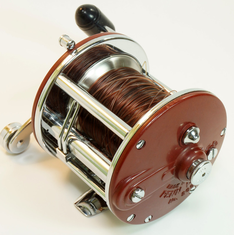 RD27625 Vintage Penn Peer # 209 Level Wind Saltwater Trolling Conventional Fishing Reel 30-66 with Box, Manual and Wrench DSC05126