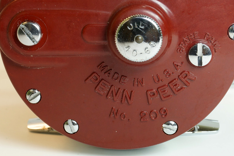RD27625 Vintage Penn Peer # 209 Level Wind Saltwater Trolling Conventional Fishing Reel 30-66 with Box, Manual and Wrench DSC05124