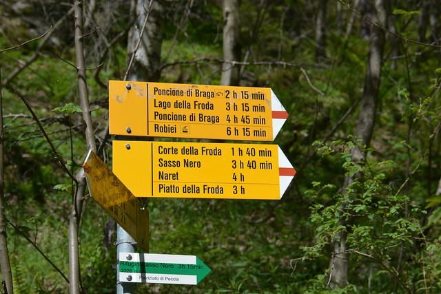 Gheiba 1197m - Capanna Poncione di Braga 2001m - Lago della Froda 2363m