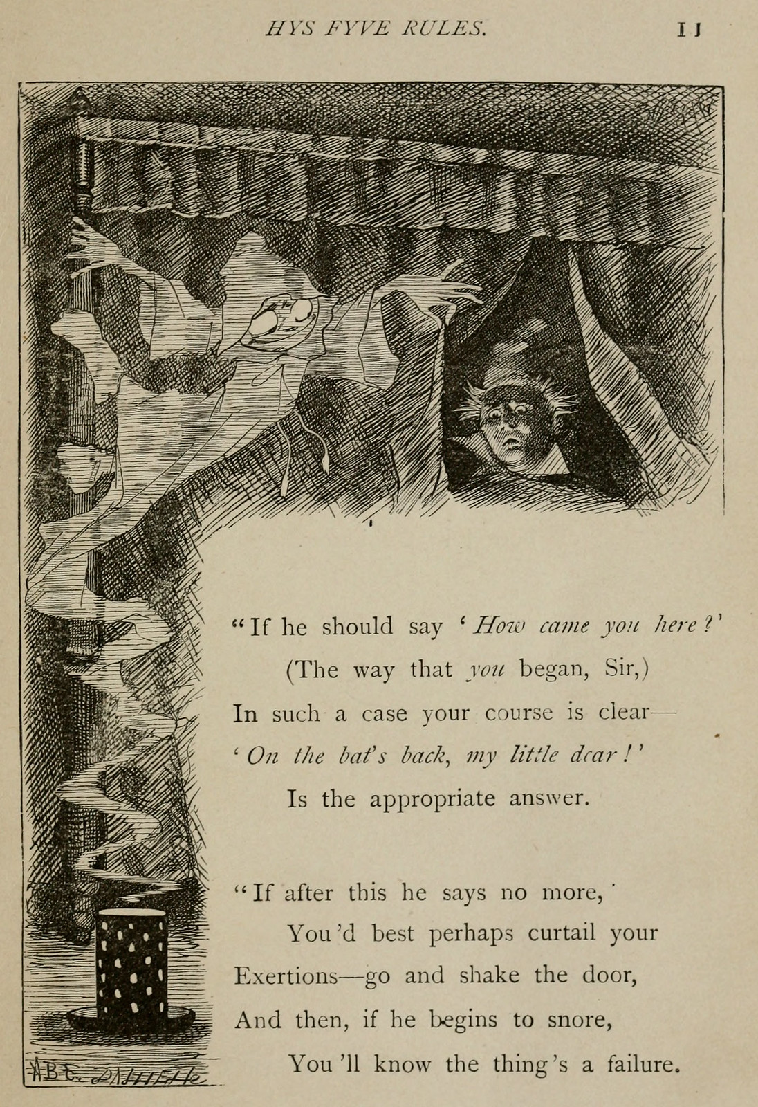 "Arthur Burdett Frost - Illustrations for Lewis Carroll's ""Rhyme? and Reason?"" 1901, 10"