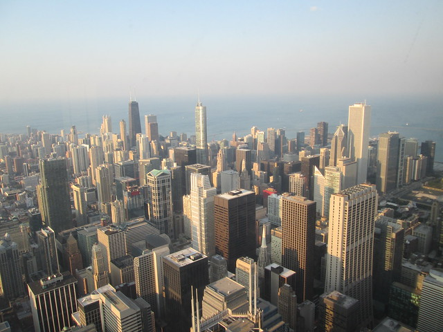 View from the Willis Tower Skydeck (formerly Sears Tower)