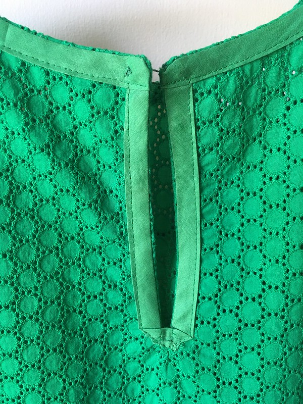 Fun in Green:  A McCall's 7948 Dress in Green Cotton Eyelet