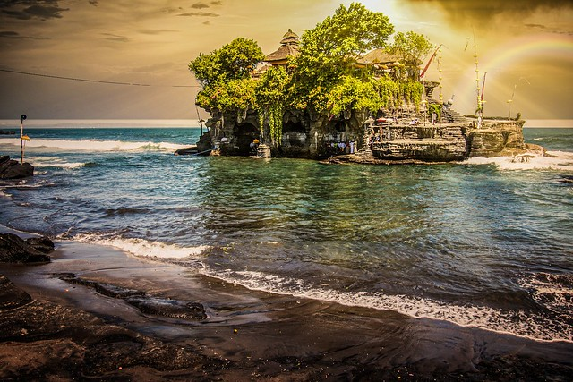 Tanah Lot, a temple on Bali, Indonesia