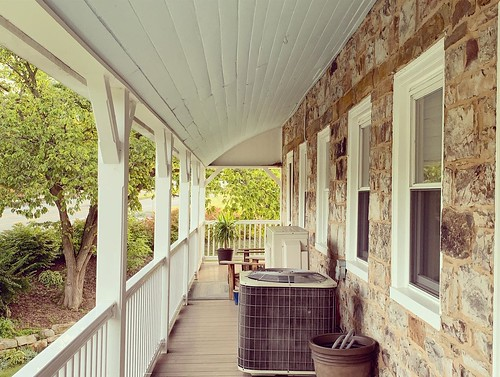 The long porch off of the Jean Bonnet. From Why Bedford, PA was the Perfect Place for a Mother/Daughter Trip