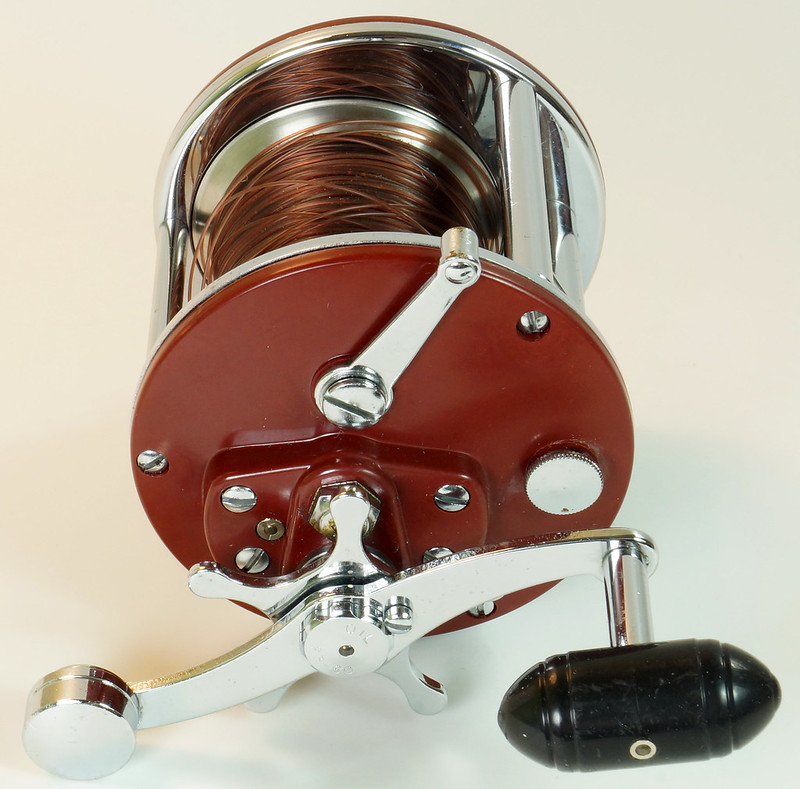 RD27625 Vintage Penn Peer # 209 Level Wind Saltwater Trolling Conventional Fishing Reel 30-66 with Box, Manual and Wrench DSC05121