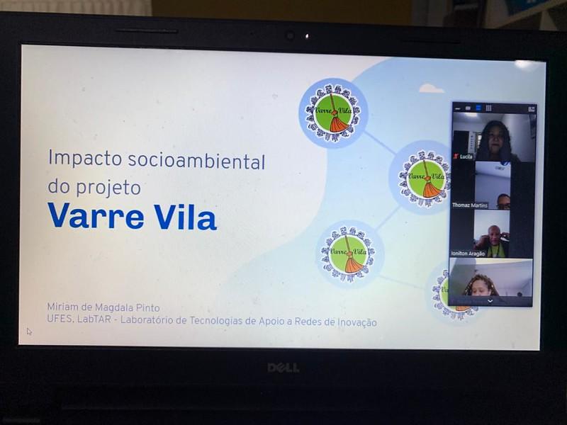 Abertura da videoconferência de apresentação do Relatório da Avaliação de Impacto Socioambiental do Projeto Varre Vila - 15/05/2020.