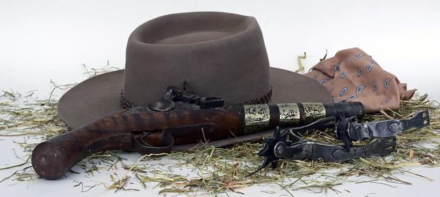 Pistol Spores Hay Hat Wild West Edited 2020