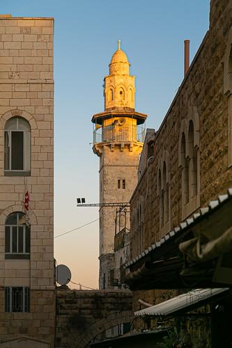 israel jerusalem mosqueofomaribnalkhattab theoldcity urbanlandscape иерусалим израиль старыйгород городскойпейзаж закат мечеть минарет ירושלים ישראל