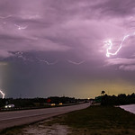 21. Mai 2020 - 20:17 - Thursday night lightning show over the Space Coast of Florida, seen looking west from the Pineda Causeway.