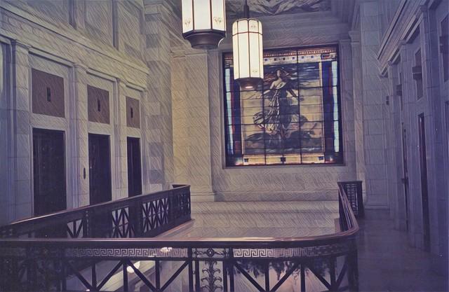 Pittsburgh Pennsylvania  ~ The Union Trust Building  ~ AKA  Union Arcade ~ Flemish ~ Gothic Architecture - Tiffany Stain Glass