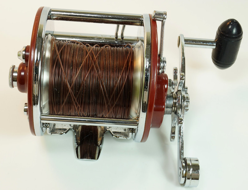 RD27625 Vintage Penn Peer # 209 Level Wind Saltwater Trolling Conventional Fishing Reel 30-66 with Box, Manual and Wrench DSC05118