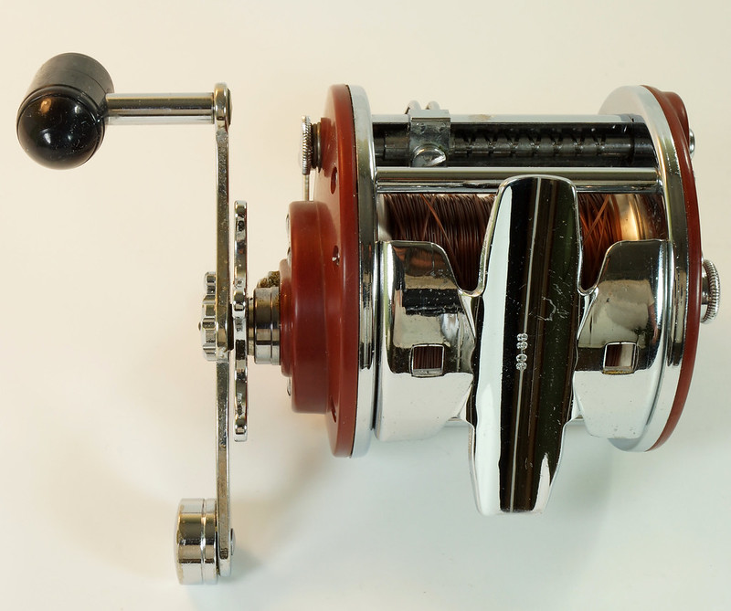 RD27625 Vintage Penn Peer # 209 Level Wind Saltwater Trolling Conventional Fishing Reel 30-66 with Box, Manual and Wrench DSC05116