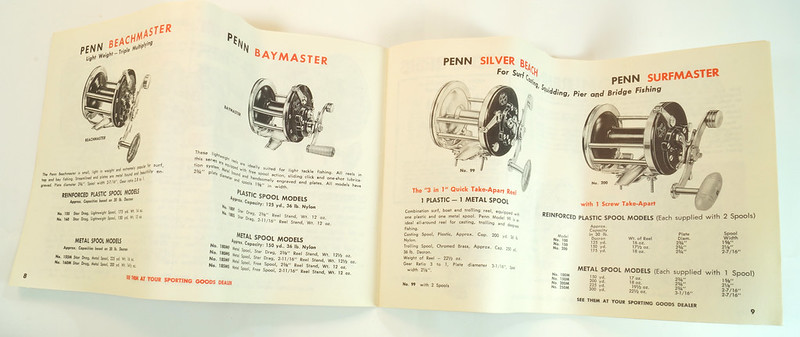 RD27625 Vintage Penn Peer # 209 Level Wind Saltwater Trolling Conventional Fishing Reel 30-66 with Box, Manual and Wrench DSC05114