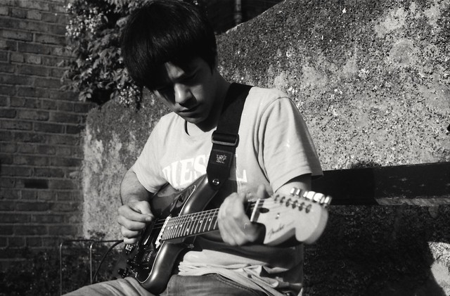 Dublin by 35mm film. Vlad - The Guitarist