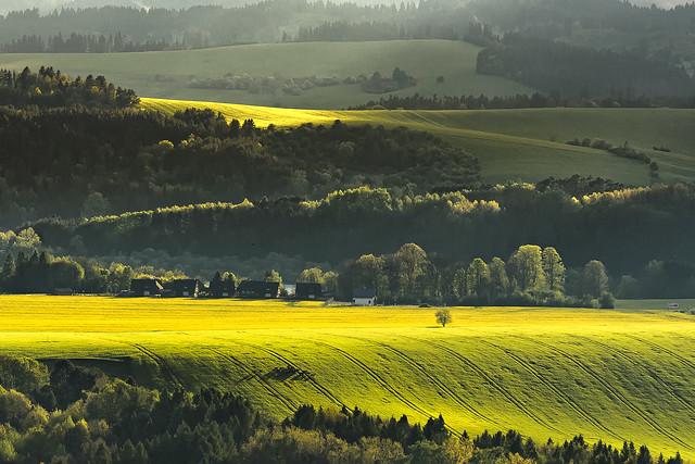 sunset in Liptov region, Slovakia