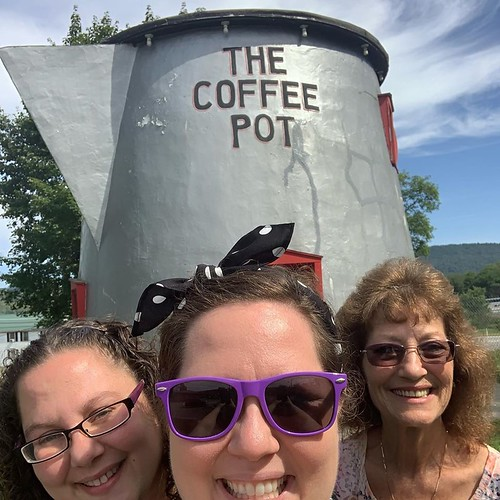 My mom, sister, and I at the Coffee Pot. From Why Bedford, PA was the Perfect Place for a Mother/Daughter Trip