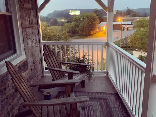 Porch off of our room at the Jean Bonnet. From Why Bedford, PA was the Perfect Place for a Mother/Daughter Trip