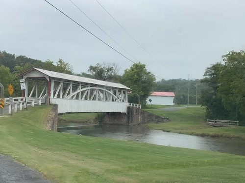 The covered bridge that we visited on the last day . From Why Bedford, PA was the Perfect Place for a Mother/Daughter Trip