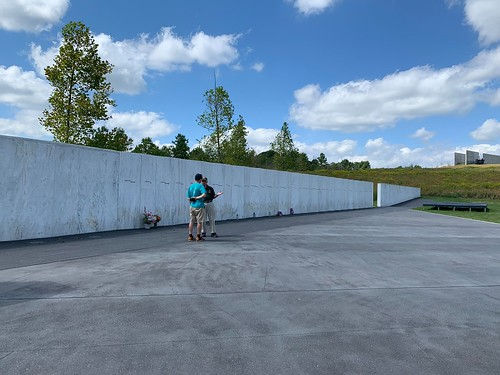 The wall of names from Flight 93 Memorial. From Why Bedford, PA was the Perfect Place for a Mother/Daughter Trip
