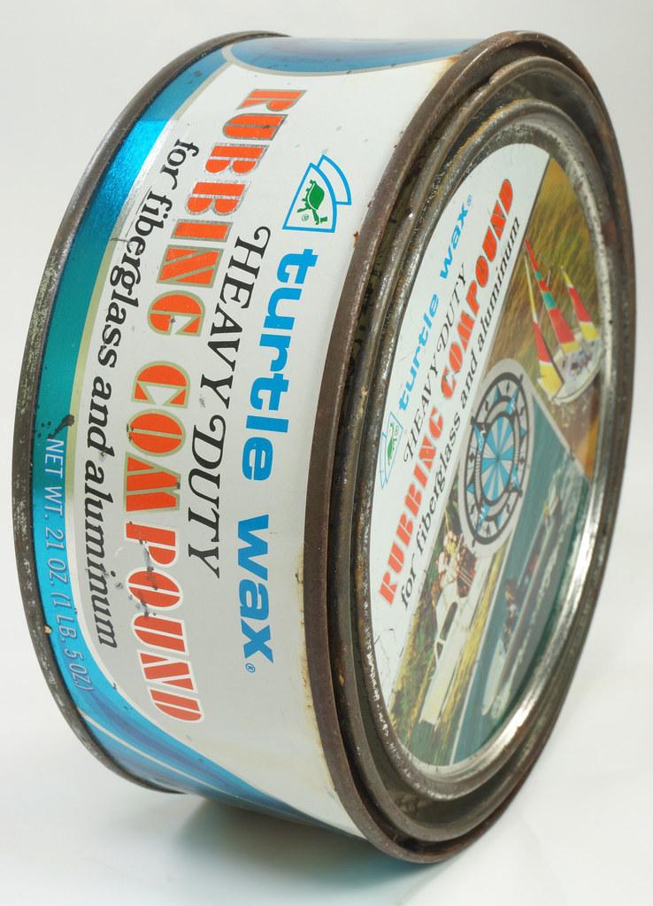 RD19749 Vintage Turtle Wax Heavy Duty Rubbing Compound for Fiberglass & Aluminum Boats 21 oz DSC05163