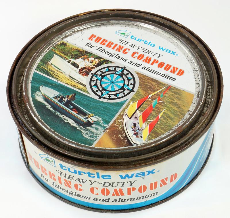 RD19749 Vintage Turtle Wax Heavy Duty Rubbing Compound for Fiberglass & Aluminum Boats 21 oz DSC05154