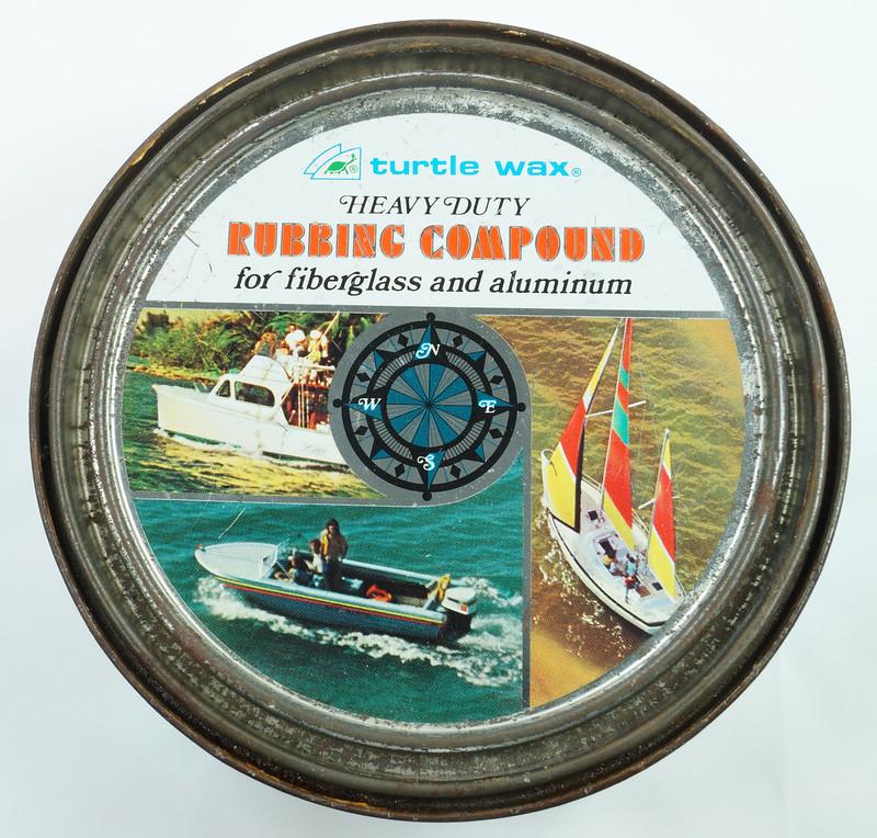 RD19749 Vintage Turtle Wax Heavy Duty Rubbing Compound for Fiberglass & Aluminum Boats 21 oz DSC05153