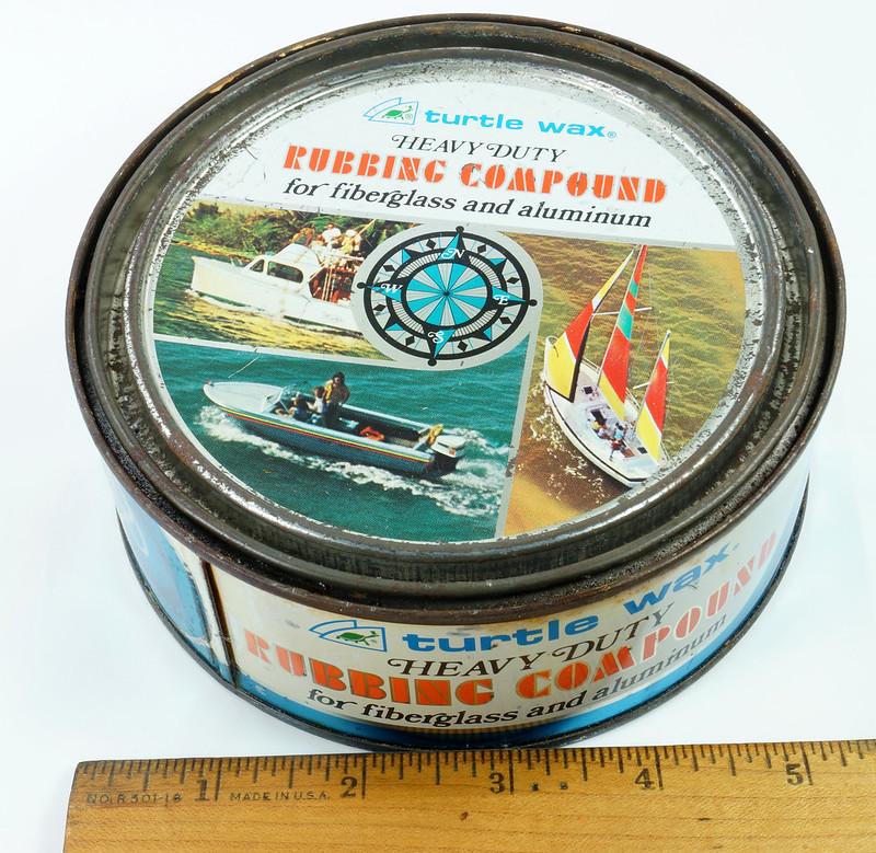 RD19749 Vintage Turtle Wax Heavy Duty Rubbing Compound for Fiberglass & Aluminum Boats 21 oz DSC05152