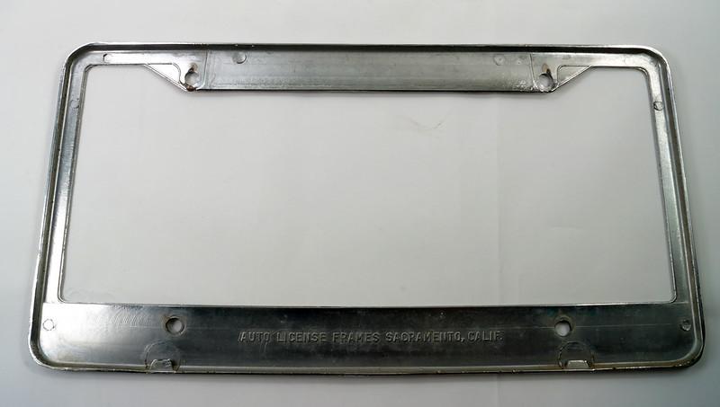 RD17019 Vintage Steel License Plate Frame EDITOR WA. RURAL POSTMAN DSC05171