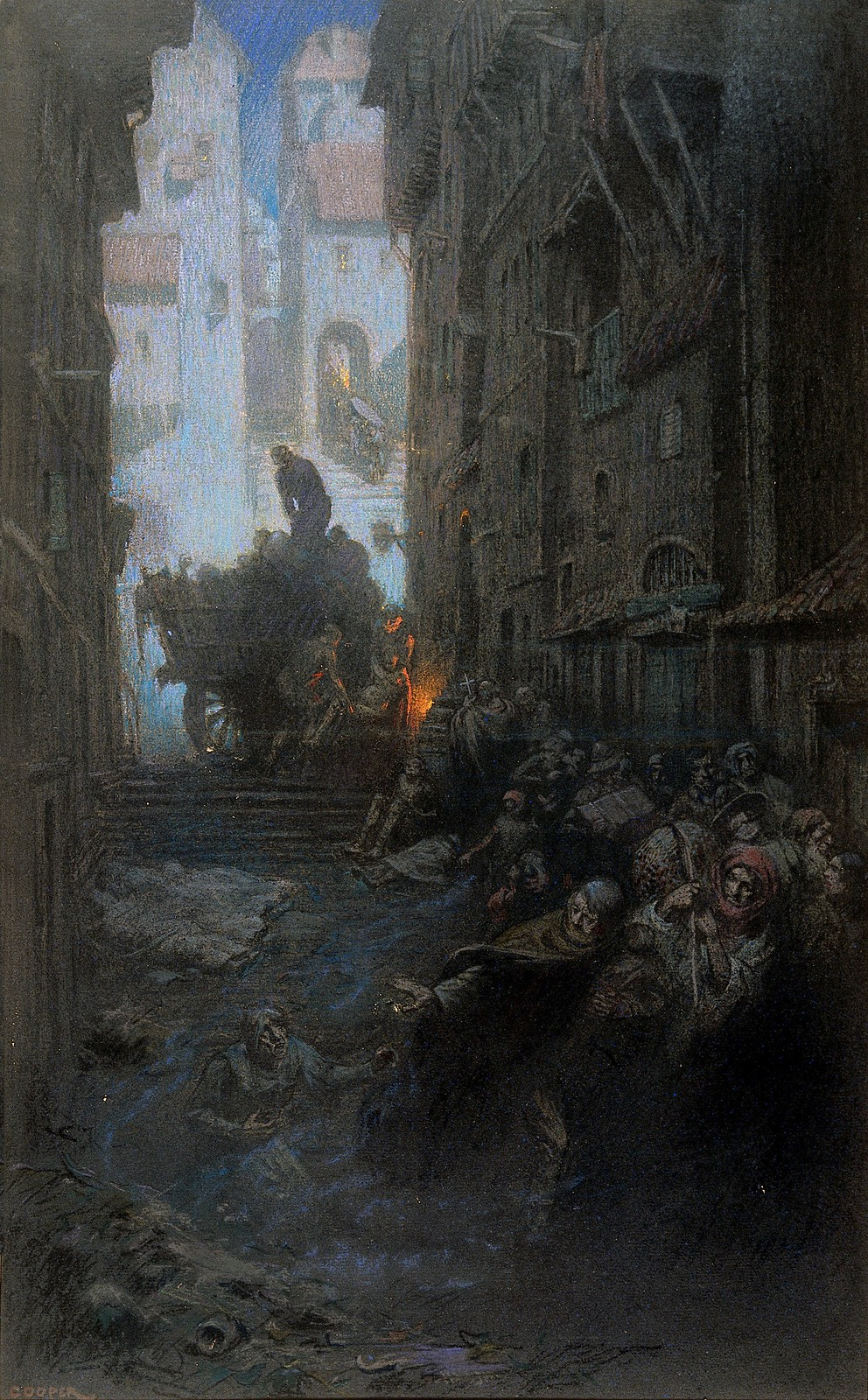 Richard Tennant Cooper  - Representation of Cholera, 1910-1912