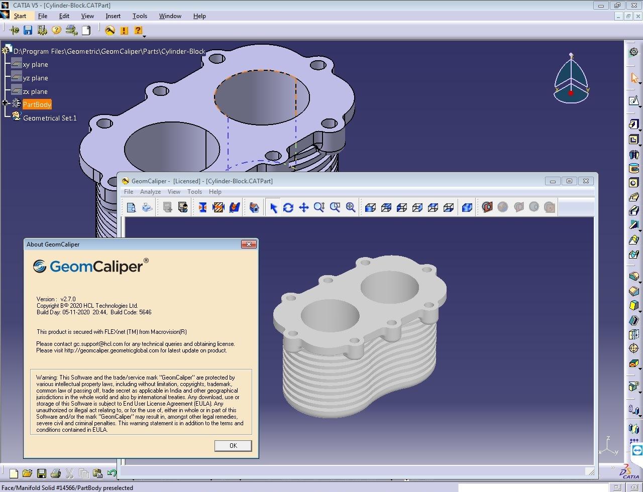 Working with Geometric GeomCaliper 2.7.0 for CATIA V5R26-R30 full crack
