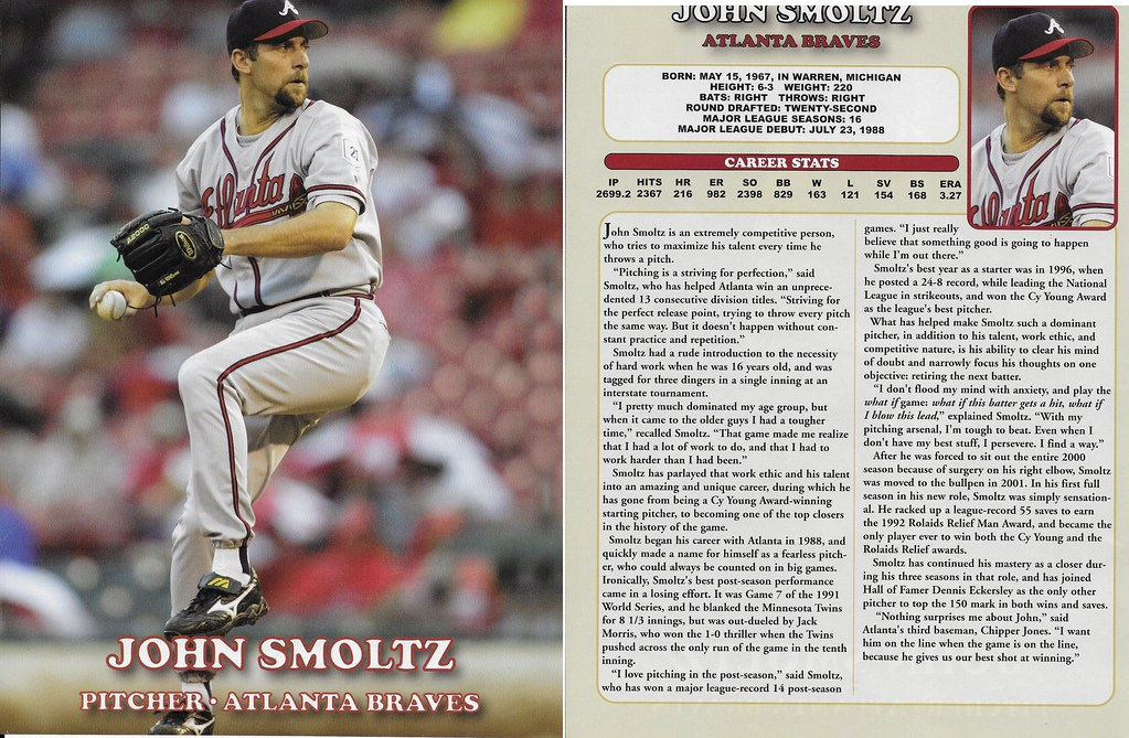 2005 East End Publishing Superstar Album Posters - Smoltz