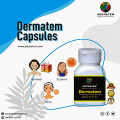 ⭕Dermatem Capsules⭕  👉Beneficial in Acne, leprosy, psoriasis, eczema, boils pimples, wicked ulcers, all kinds of skin diseases, etc.👈  SHOP NOW - https://adunatem.com/product/shop-dermatem-capsules-online-all-kinds-of-skin-disea