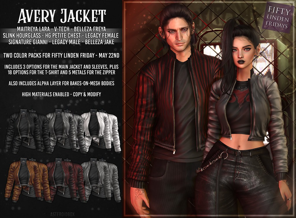 AsteroidBox. Avery Jacket @ Fifty Linden Fridays